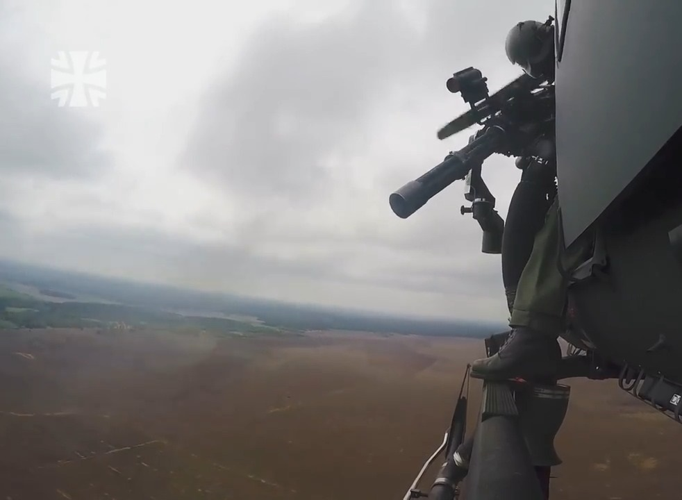German Air Force Helicopter Wing 64 MG6 Minigun