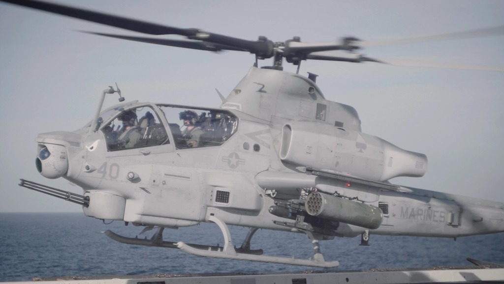 Marine Medium Tiltrotor Squadron 163 UH-1Y Venoms and AH-1Z
