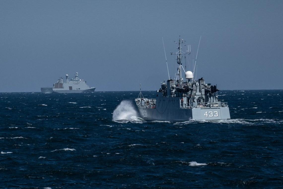 Estonian ship ENS WAMBOLA in the Baltic Sea during exercise BALTOPS 2020.
