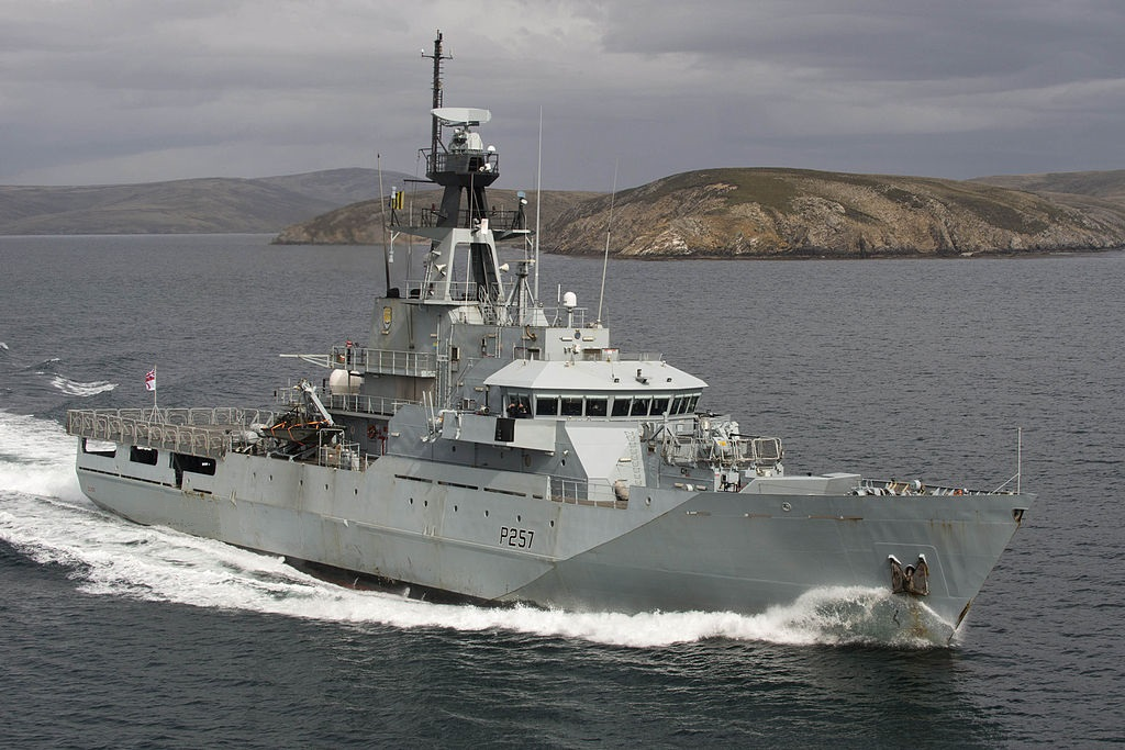 Royal Navy HMS Clyde  River Class Patrol Vessel