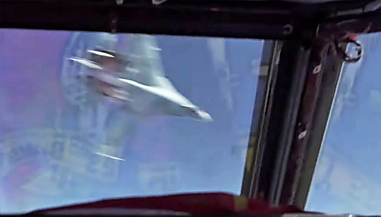 Unsafe Intercept of US B-52 Bomber by Russian Su-27 Flanker Over the Black Sea