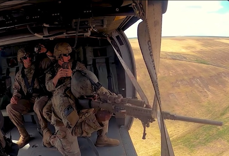 U.S. Army 3rd Battalion, 15th Infantry Regiment completes helicopter sniper training at Smârdan, Romania