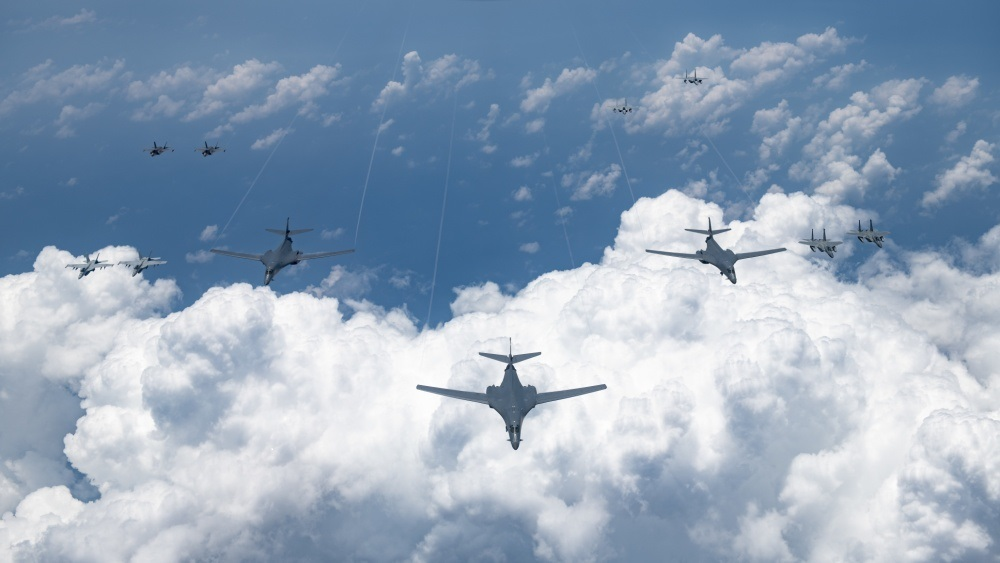 US demonstrates airpower in Indo-Pacific region with simultaneous bomber missions