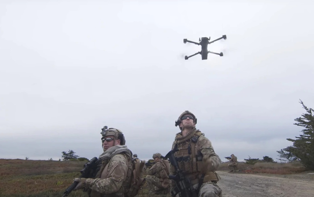 The Skydio small unmanned aerial system.