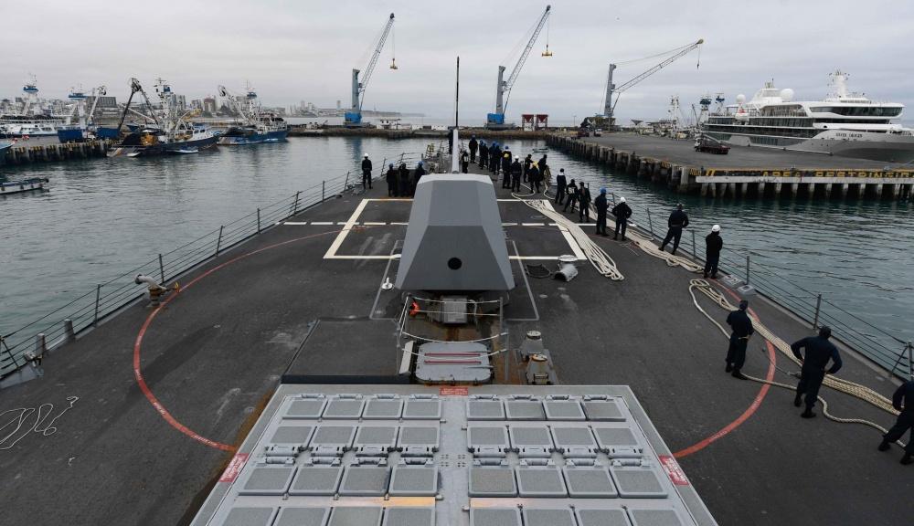US Navy USS Pinckney Arrives in Manta, Ecuador
