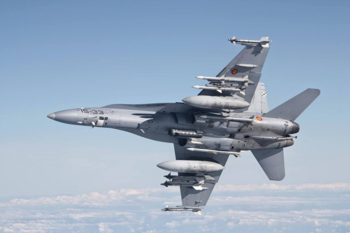 Spanish Air Force F/A-18 Hornet Multirole Fighter