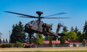 Boeing AH-64 Apache twin-turboshaft attack helicopter