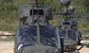 Croatian Air Force Conducts Live Firing from OH-58D Kiowa Warrior Armed Reconnaissance Helicopters