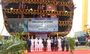 Keel Laid for Third Indian Navy Project 17A Stealth Frigate