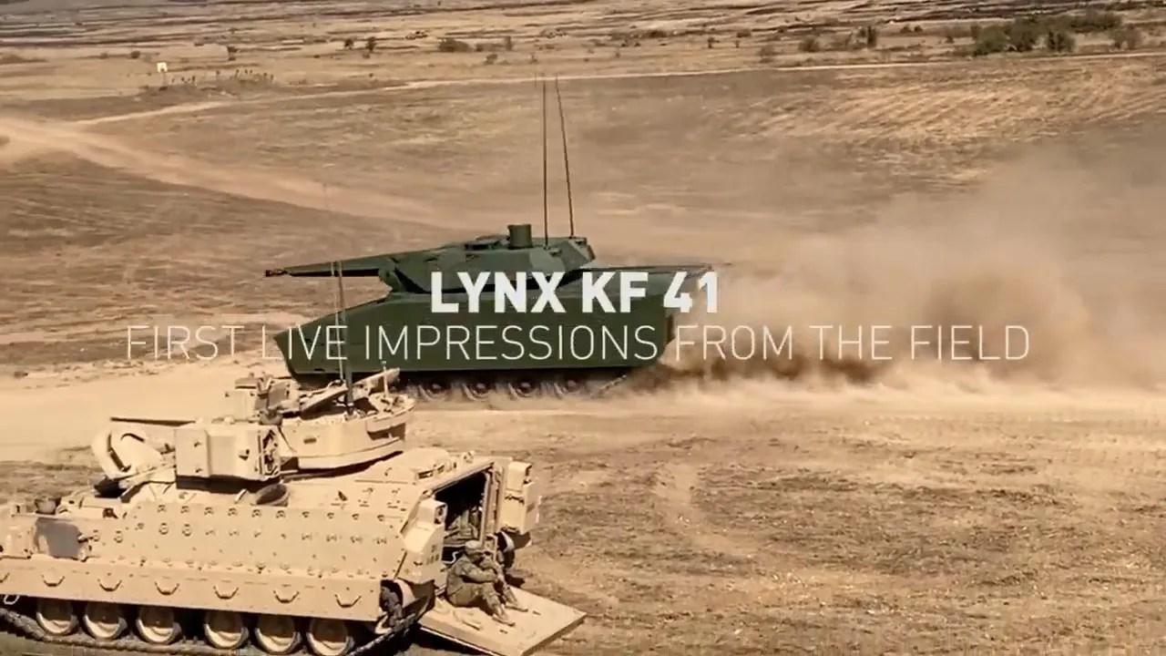 Rheinmetall Releases Video of Lynx KF41 During NATO Excercise Brave Warrior