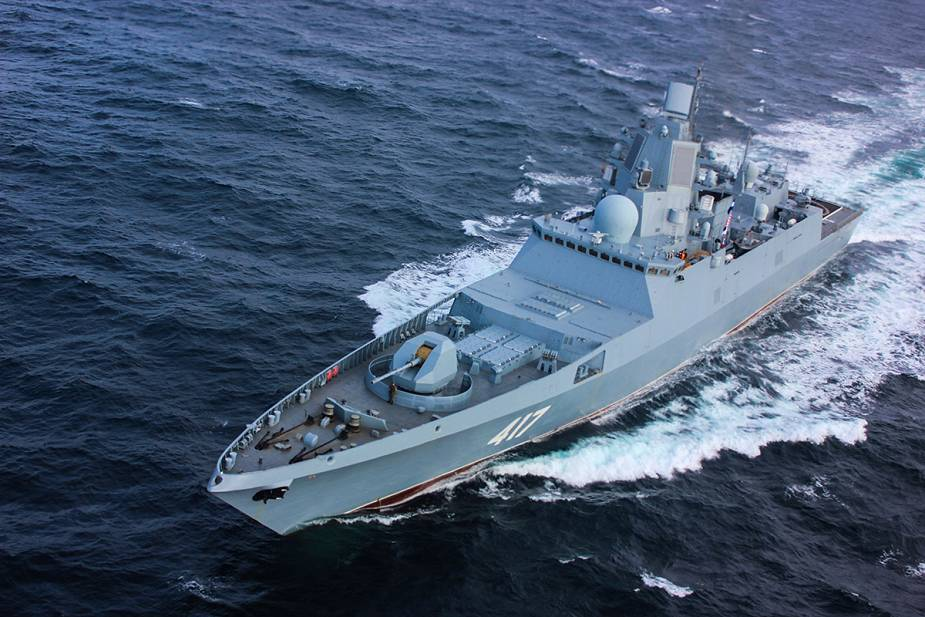 Russian Navy Admiral Gorshkov Frigate Plans Test Launch of Tsirkon Hypersonic Missile