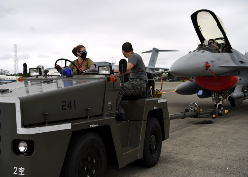 US Air Force Practices Fighter Unit Relocation to Japan Air Self-Defense Force Air Base