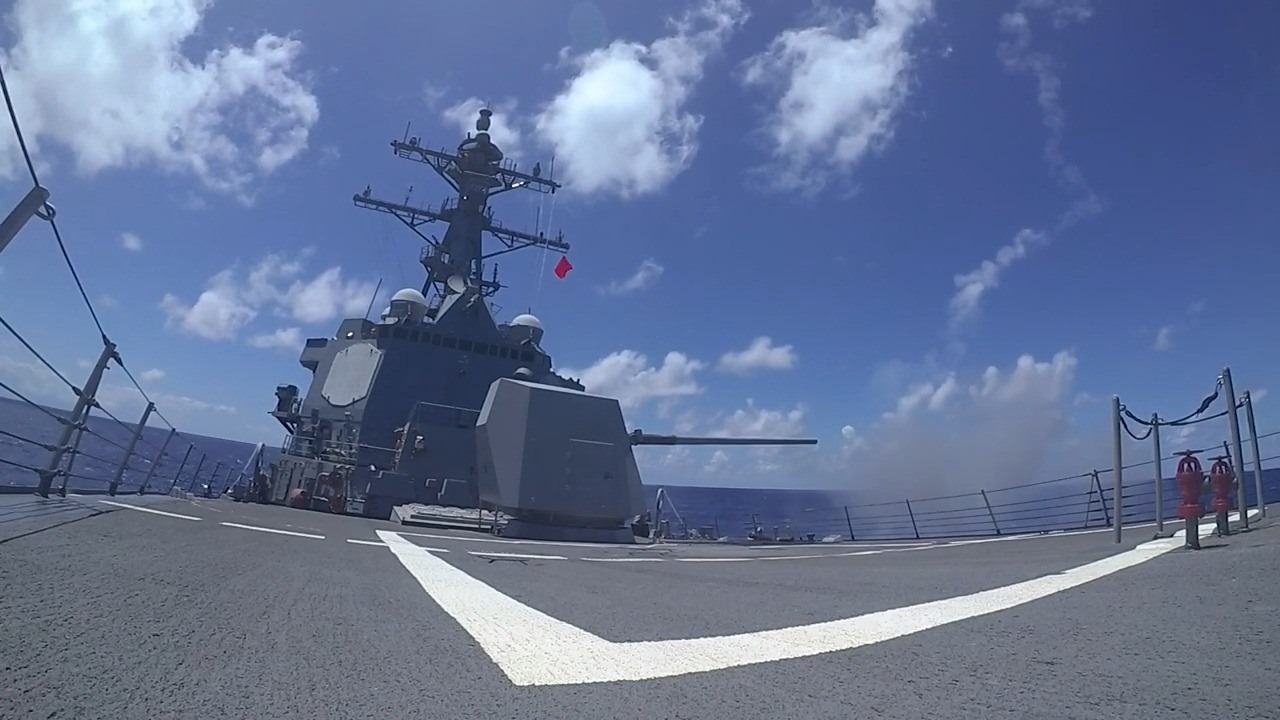 US Navy USS Chung-Hoon Weapons Exercise During RIMPAC 2020