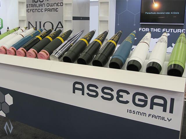Australian Army Assegai 155mm Artillery Ammunition