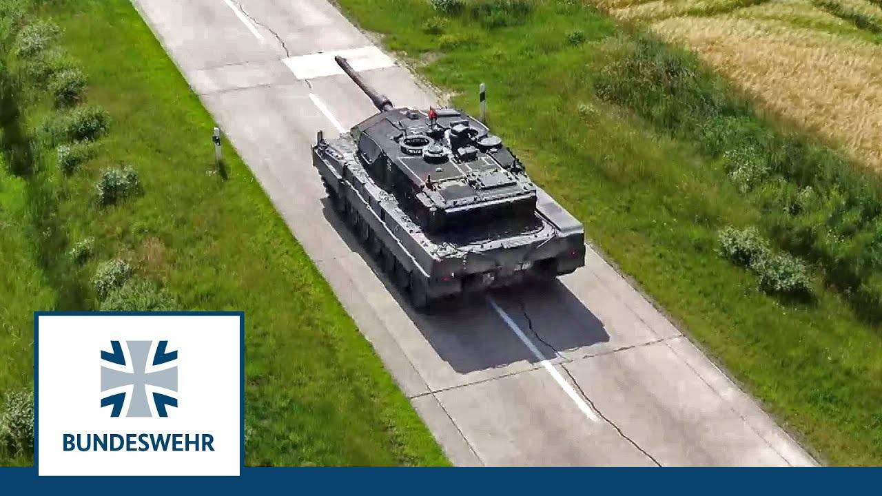 German Army Leopard 2A7V Main Battle Tank Begins First Trial Test