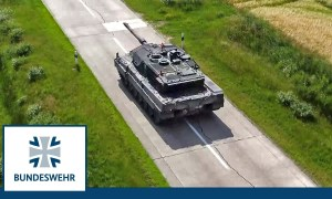 German Army Leopard 2A7V Main Battle Tank Begins First Trial Test