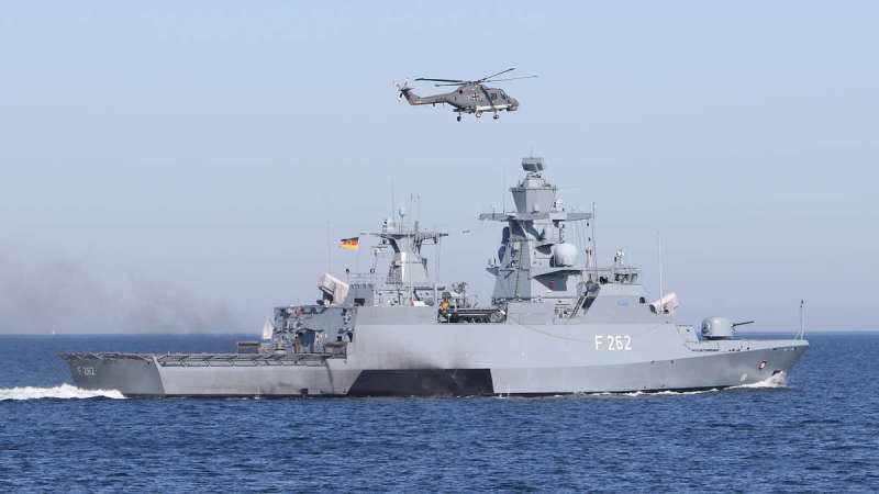 German Navy Erfurt Braunschweig-class corvette (sometimes Korvette 130)