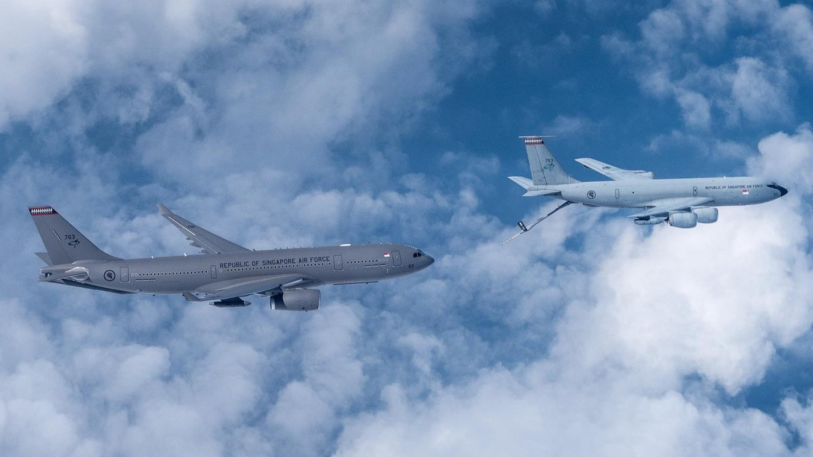 The A330 Multi-Role Transport Tanker replaces the KC-135R Stratotankers.