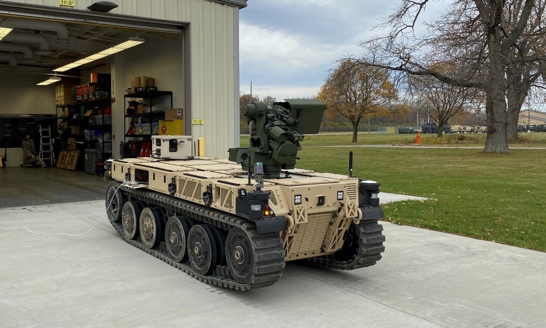 Robotic experts QinetiQ and Pratt Miller deliver first RCV-L vehicle to U.S. Army GVSC personnel at Selfridge Air National Guard Base on November 5, 2020
