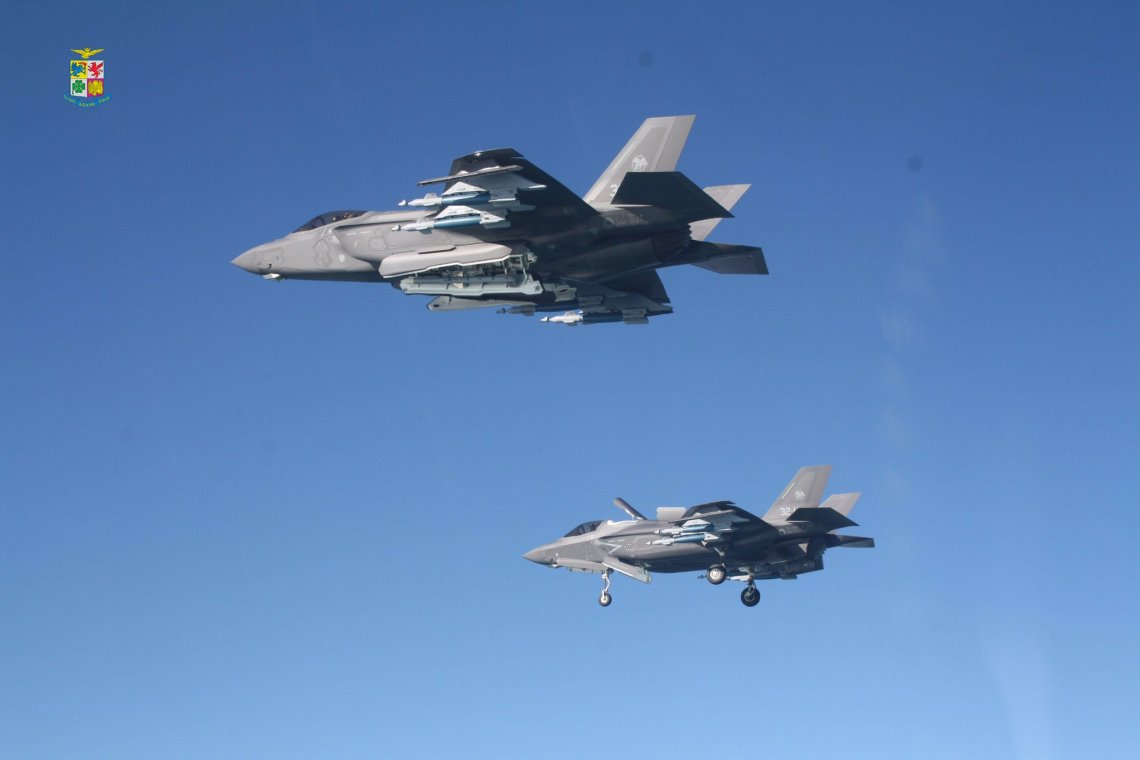 Italian Air Force F-35A and F-35B Flown in