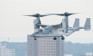 Japan Bell Boeing V-22 Conducts Flights at Kisarazu Air Field