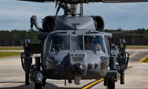US Air Force's First HH-60W Jolly Green II Rescue Helicopters Arrives at Moody AFB
