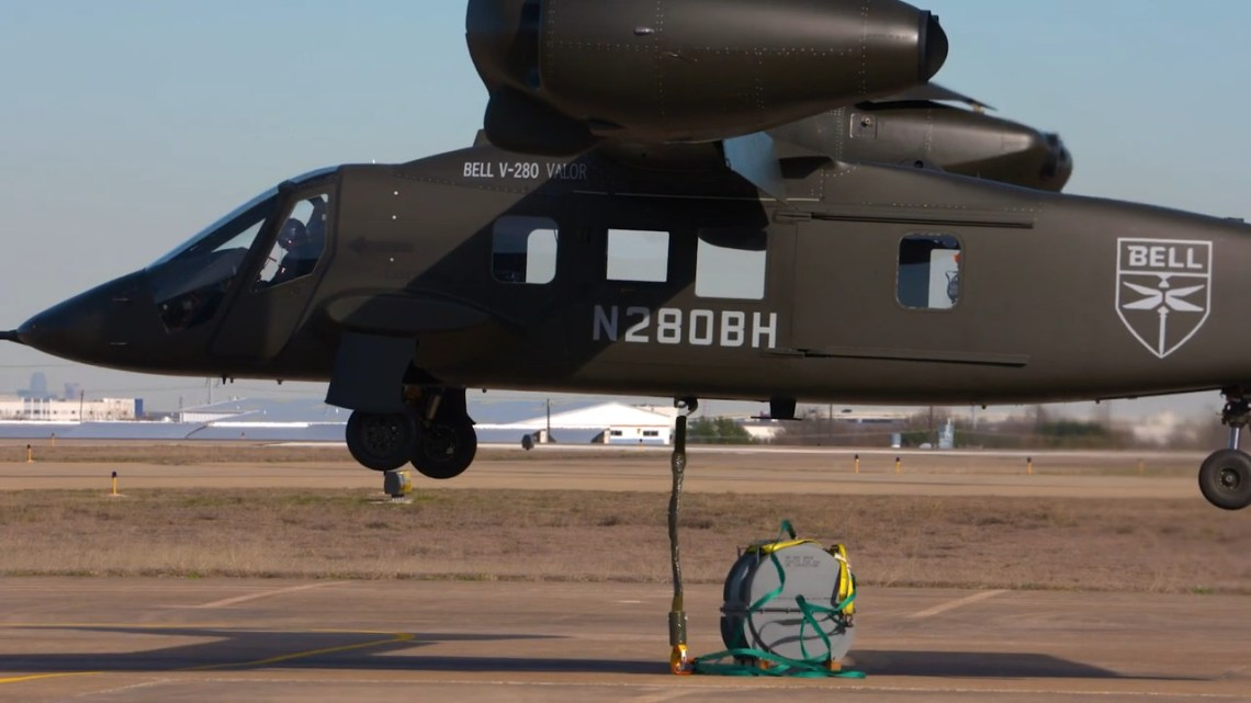Bell V-280 Valor Tests New Mission Equipment Integration and External Cargo Loads