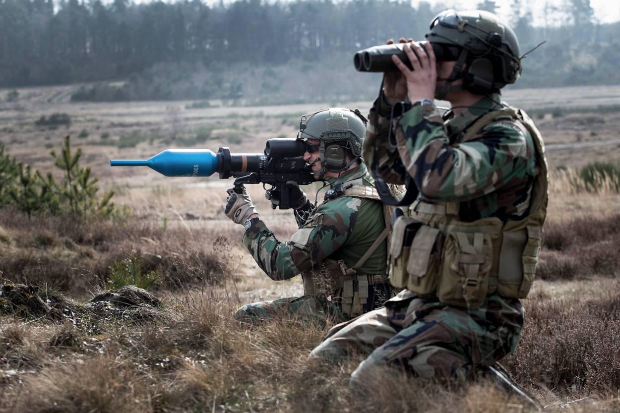Dutch Army Panzerfaust 3 anti tank rocket launcher