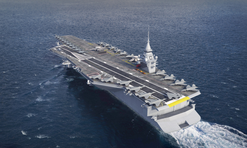 France's future aircraft carrier, intended to replace the Charles de Gaulle from 2038, will displace about 75,000 tonnes to accommodate about 30 FCAS fighters, and will be nuclear-powered. Interestingly, building a sister ship has not been ruled out.
