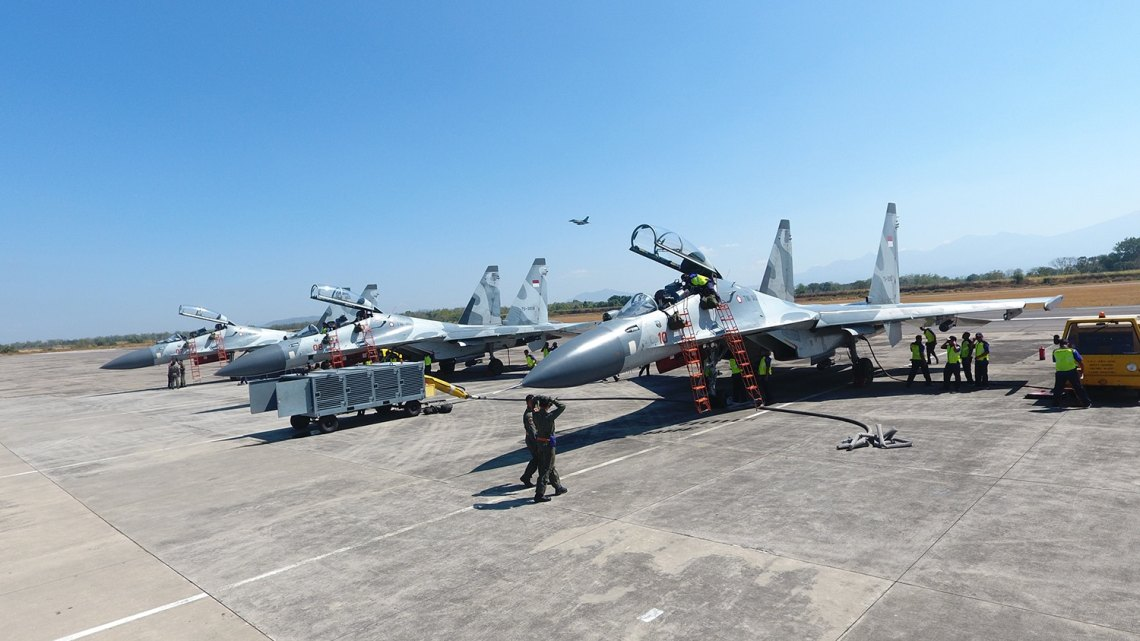 Indonesian Air Force Sukhoi Su-30MK/MK2 fighter aircrafts