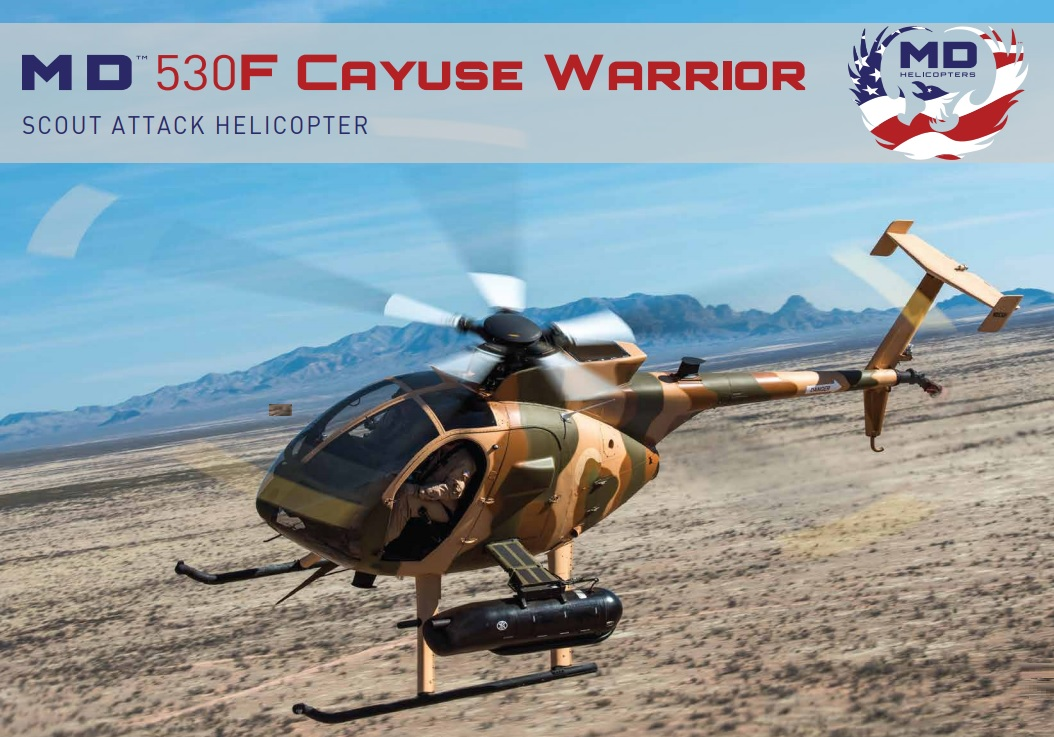 MD 530F Cayuse Warrior light attack and reconnaissance helicopter