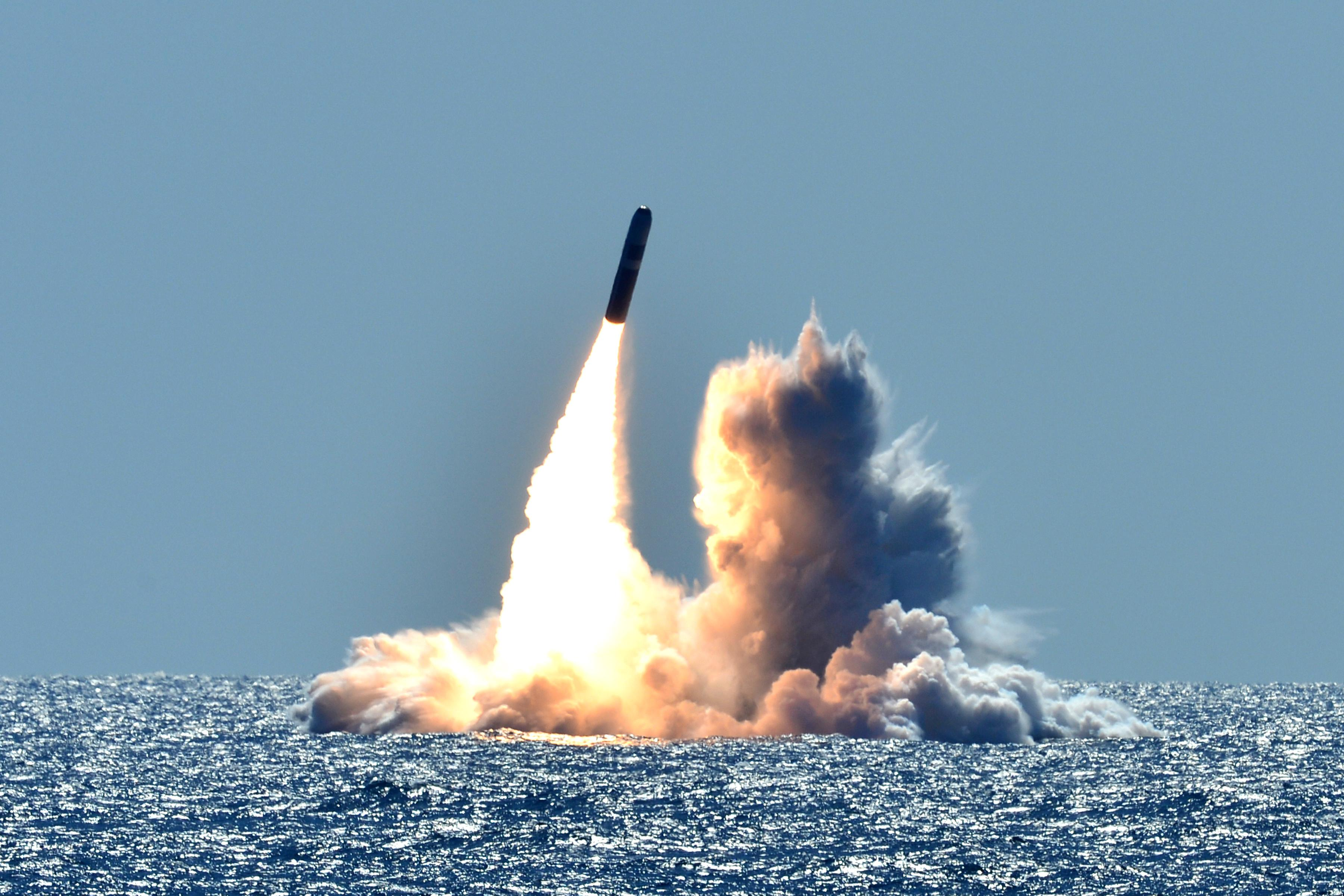 U.S. Navy Trident II D5 Submarine-Launched Ballistic Missile (SLBM)