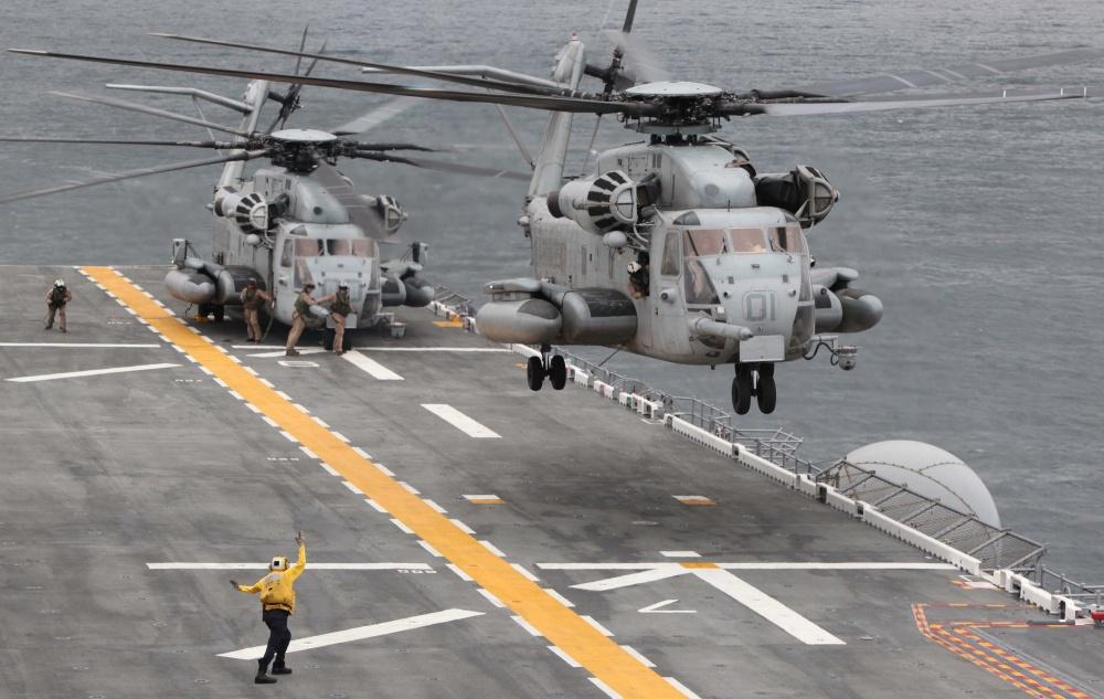 U.S. Marine Corps CH53E Super Stallions