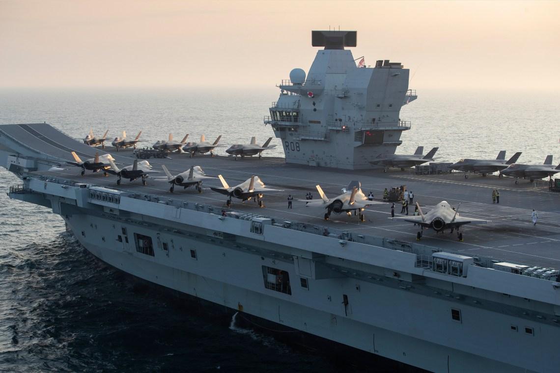 Royal Navy Aircraft Carrier HMS Queen Elizabeth (R08)