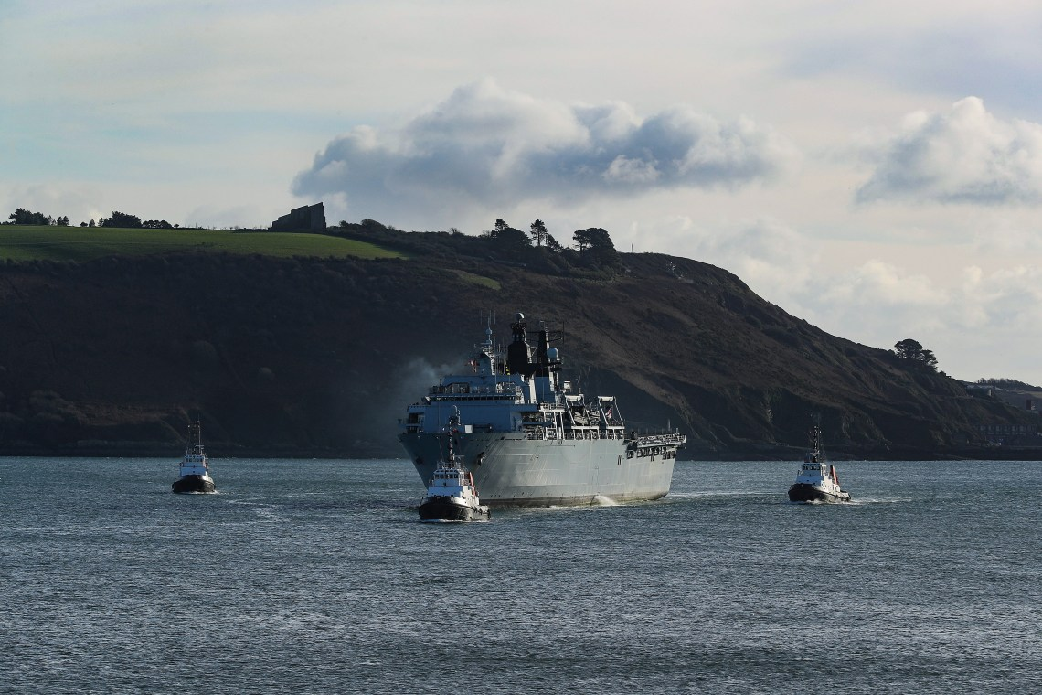 Royal Navy amphibious transport dock HMS Albion (R07)