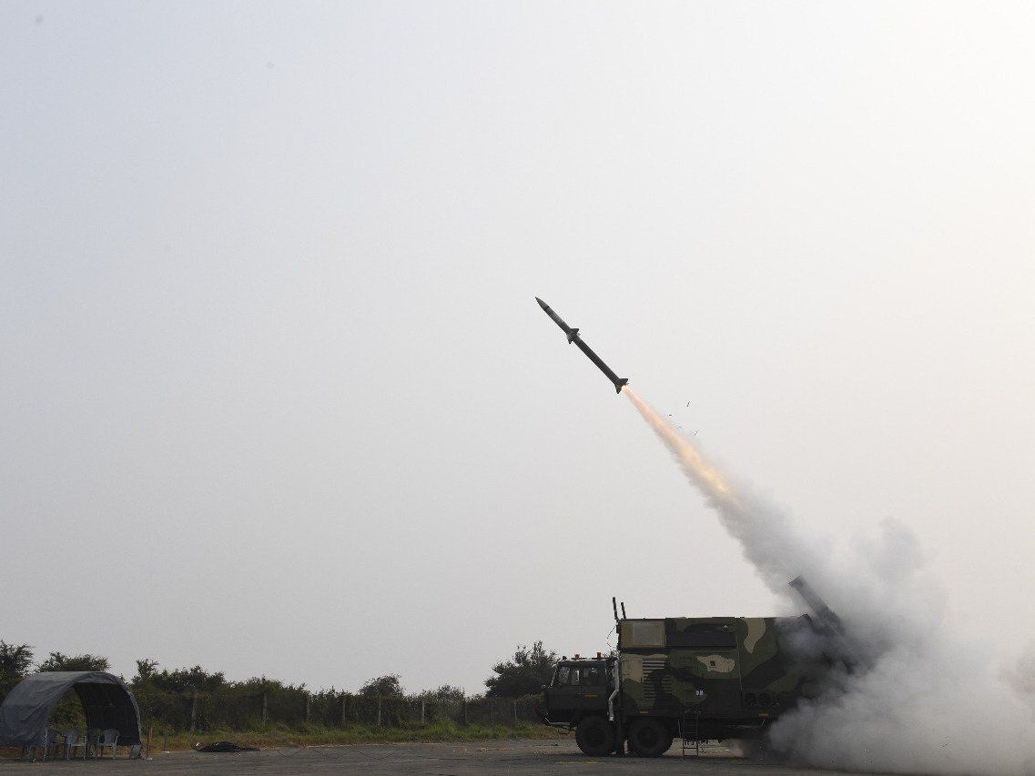 Indian DRDO Successfully Test Fires Surface-to-air Akash-NG Missile