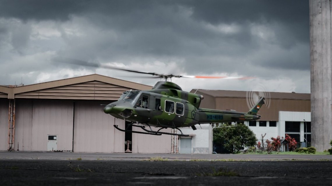 PTDI Delivers First Bell 412EPI Utility Helicopter to Indonesian Army