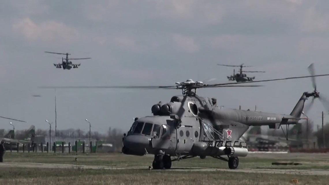 Russian Southern Military District Aircrafts Mi-8AMTSh