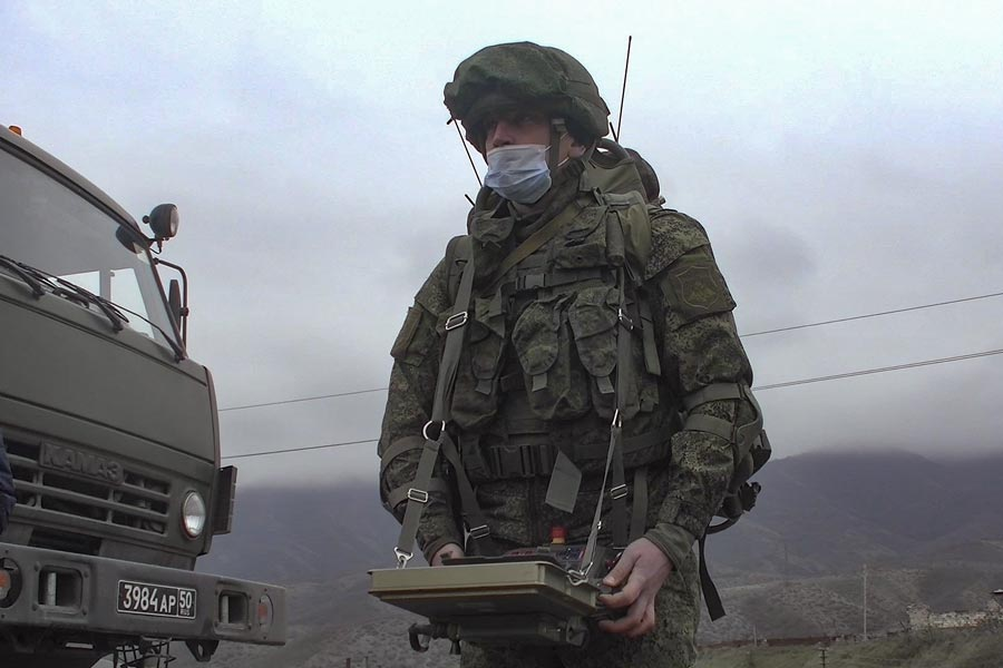 Russian Uran-6 Mine Clearing Robot Operationally Deployed in Nagorno-Karabakh