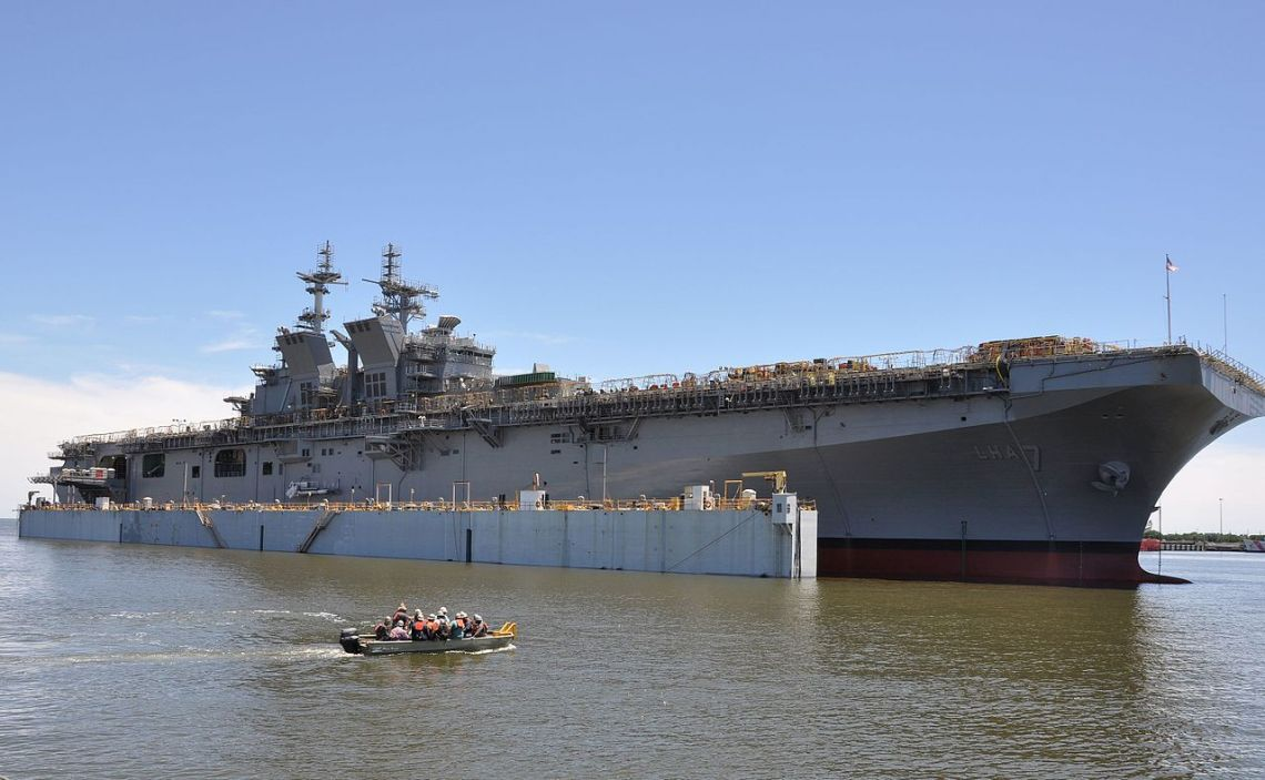 U.S. Navy amphibious assault ship USS Tripoli (LHA-7)