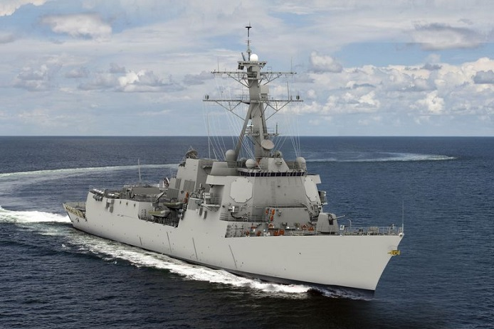 The future USS Jack H. Lucas (DDG 125) photo rendering by Huntington Ingalls