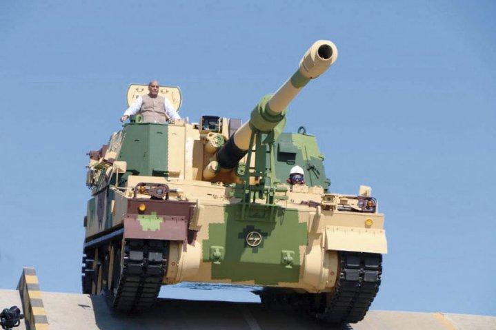 K9-VAJRA-T self-propelled 155 mm howitzer