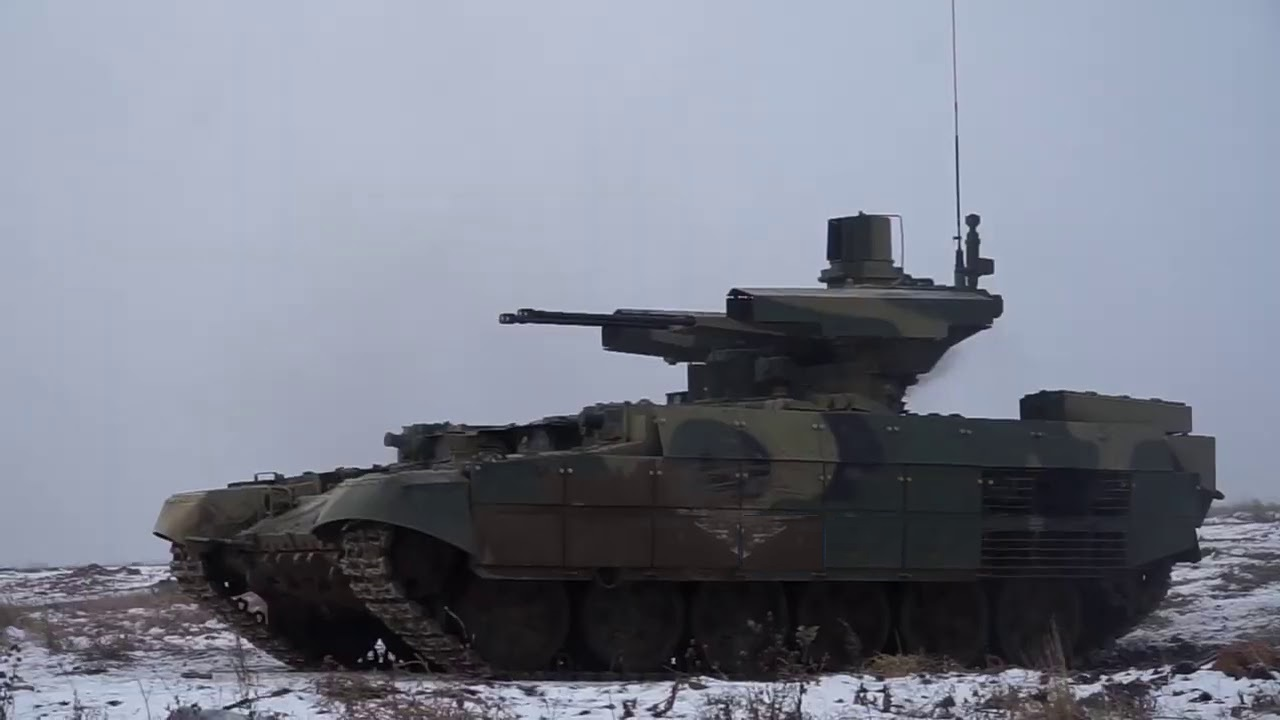 Russian Central Military District Fields BMPT Terminator Tank Support Combat Vehicle