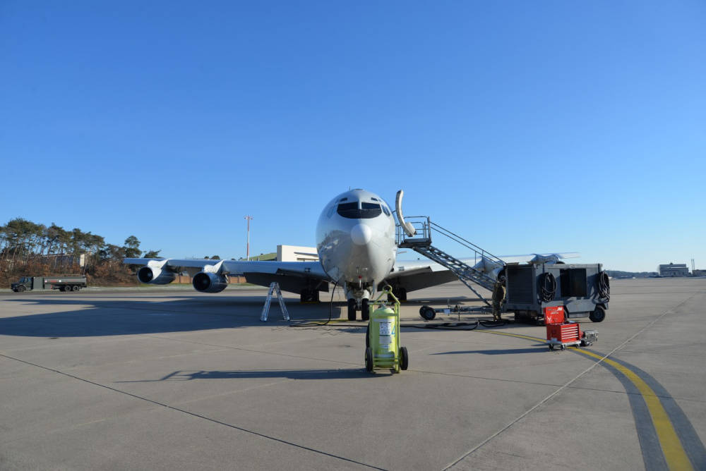 US Air Force E-8C JSTARS aircraft deploys to Ramstein Air Base, Germany