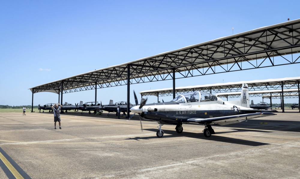 US Air Force T-6A Texan II Training Aircrafts