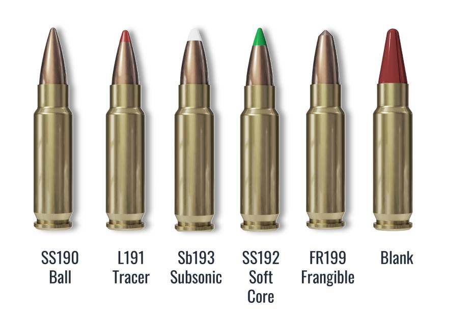 5.7x28mm NATO caliber in the FN ammunition range.