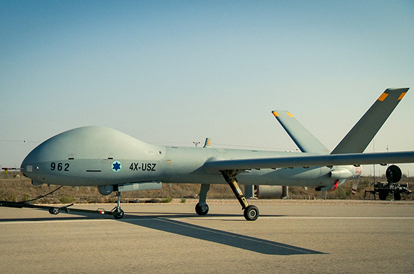 Photo of the Hermes 900 UAS that is in service with the Israeli Air Force