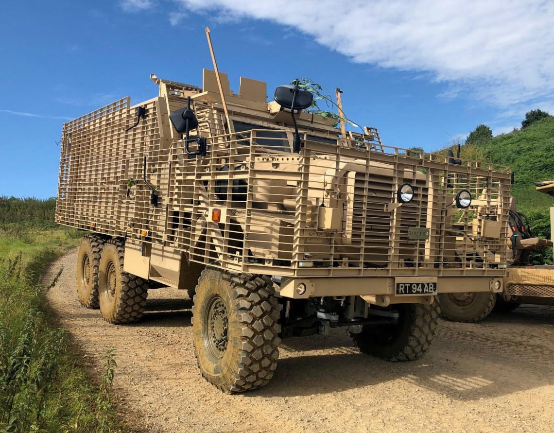 British Army Mastiff Armored Vehicle