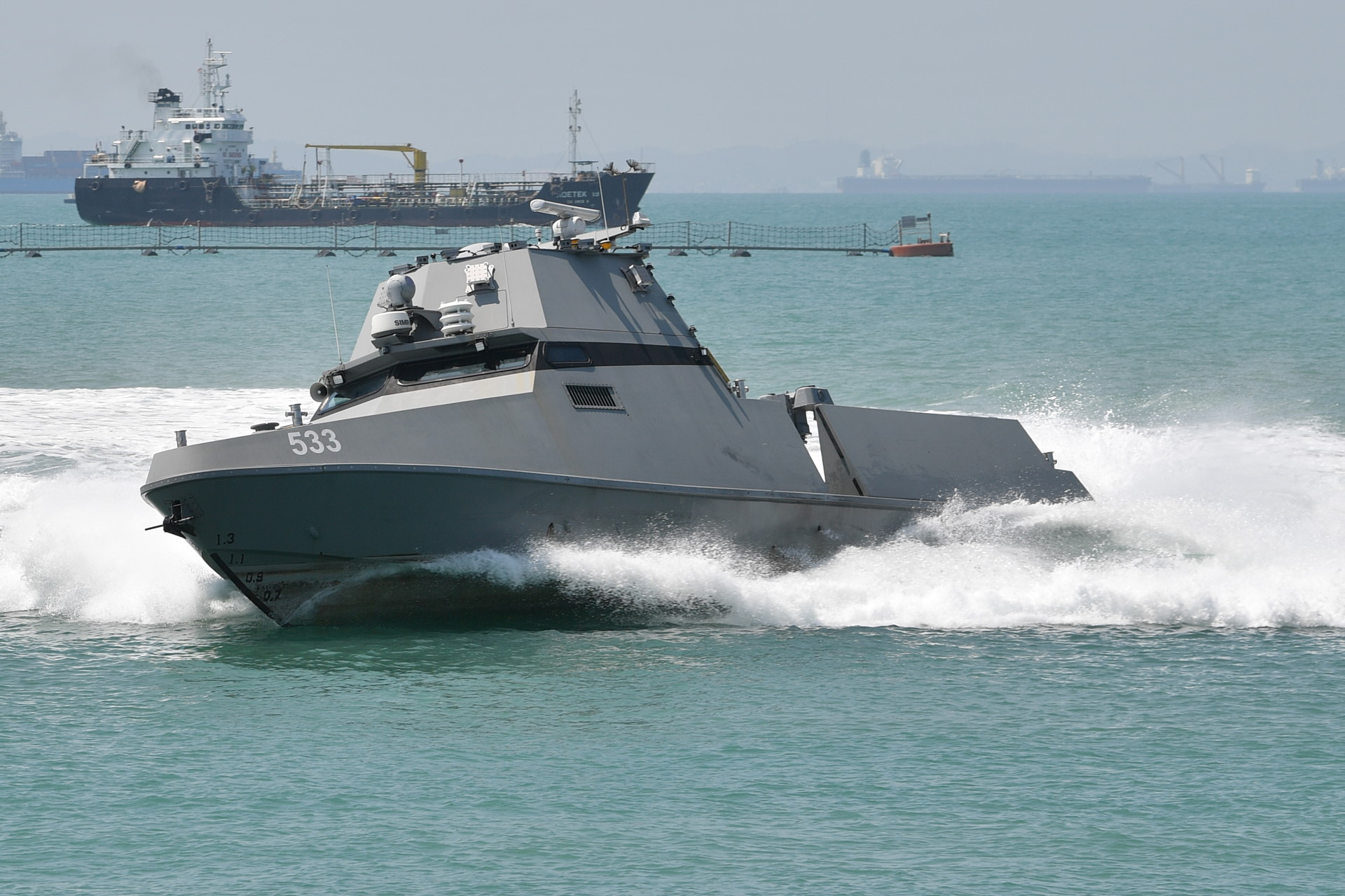 The Maritime Security USV can provide a persistent presence to patrol Singapore's waters.