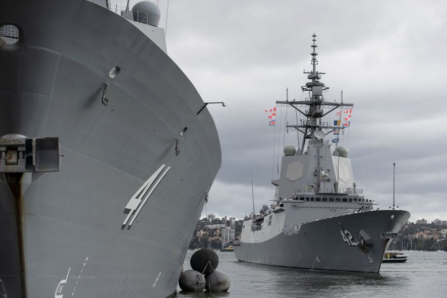 Royal Australian Navy HMAS Sydney Sails for Combat Trials in United States
